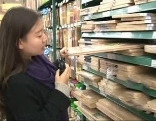 超市中的竹菜板